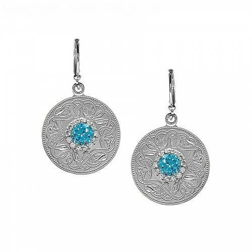 Silver Celtic Warrior Earrings