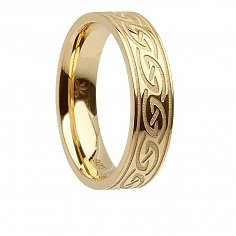 Womens Goldirischer Wellen Ring