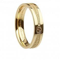 Womens Goldirischer Promise Ring
