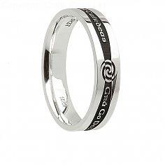 Damen Silber Irish Promise Ring