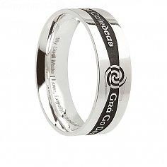 Mens-Silber Irish Promise Ring