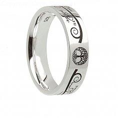 Damen Silber Baum des Lebens Ring