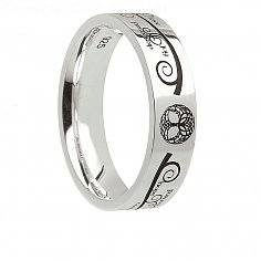Womens Silver Tree of Life Ring