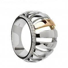 CZ Ring aus Silber und Roségold