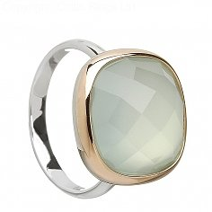 Puder blauer Chalcedon-Ring