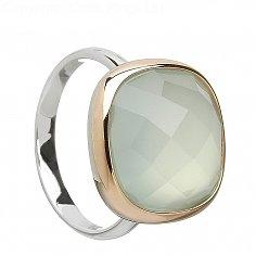 Calcédoine bleu poudre anneau