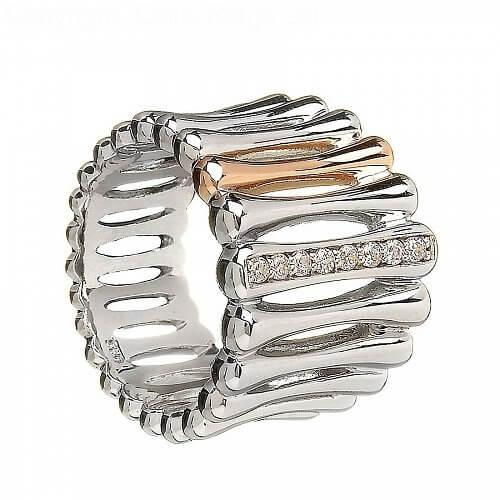 Irischer Silber- und Roségold-Ring