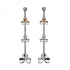 Irish Gold Shamrock Earrings