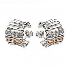 Irische Silber- und Roségold-Ohrringe