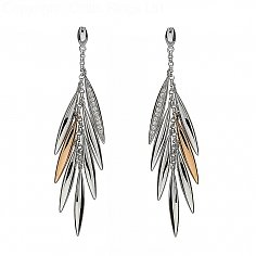 Irish Feather Drop Earrings