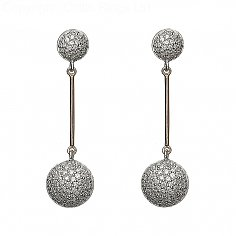 CZ Circle Drop Earrings