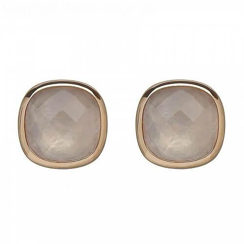 Irish Rose Quartz Earrings