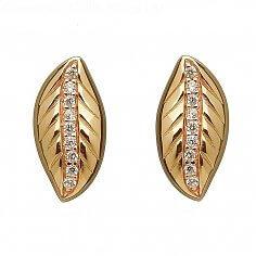 Ohrringe aus irischem Goldblatt