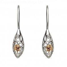 Keltische Kleeblatt Tropfen Ohrringe