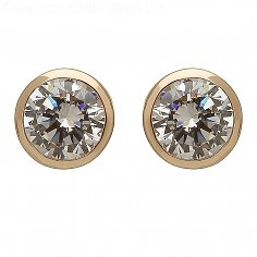 Irish Gold CZ Stud Earrings