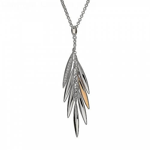 Irish Feather Drop Pendant