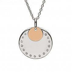 Irish Gold Disc CZ Pendant