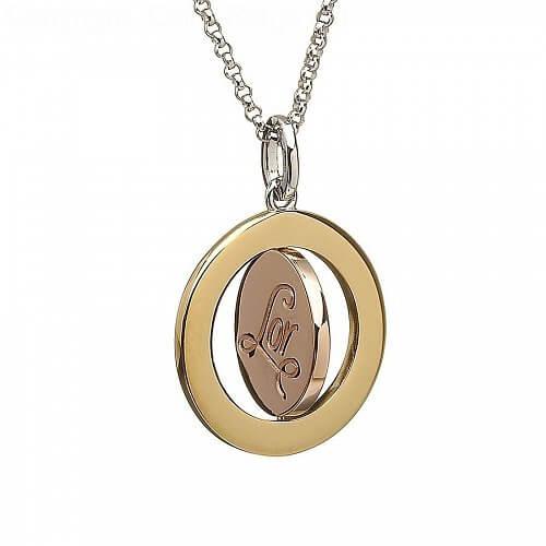 Irish spinning disc pendant celtic rings ltd irish spinning disc pendant mozeypictures Images
