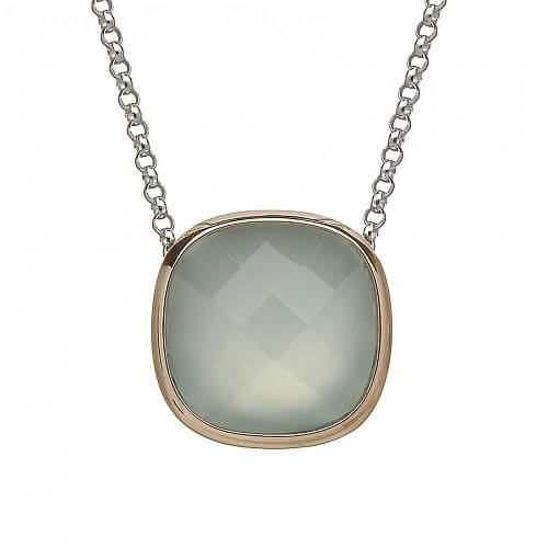 Powder Blue Chalcedony Pendant