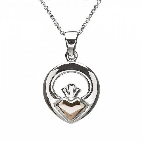 Claddagh Rose Gold Pendant