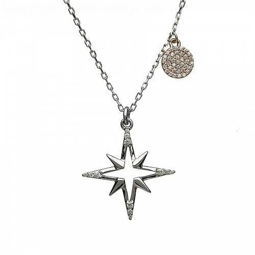 Pendentif étoile irlandaise avec CZ