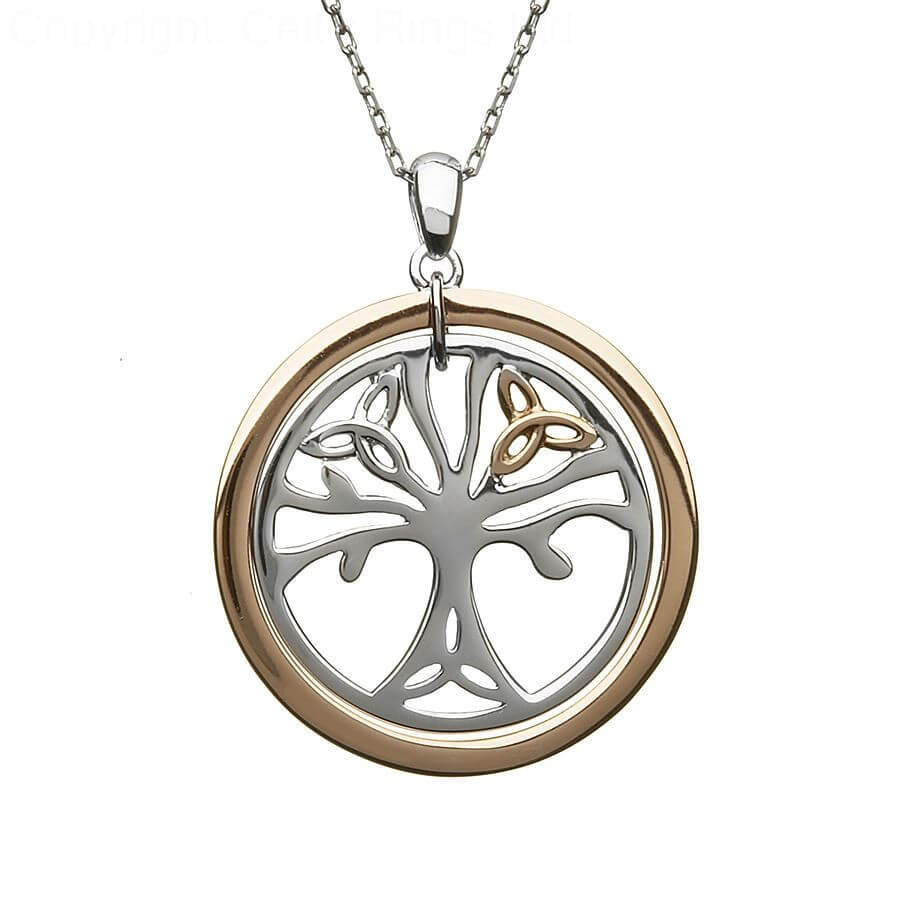 Tree of life necklaces celtic rings ltd irish tree of life pendant mozeypictures Image collections
