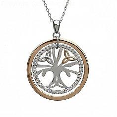 CZ Tree of Life Pendant