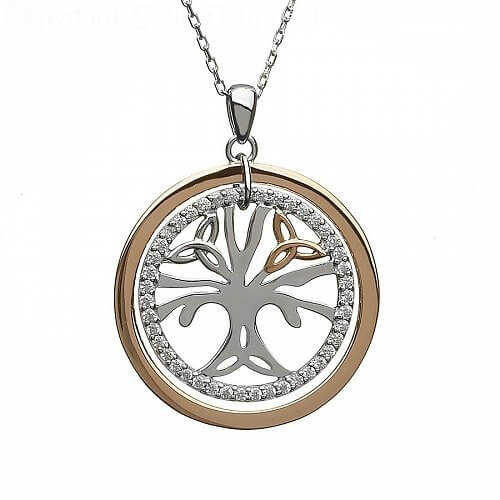 CZ Tree of Life Pendant
