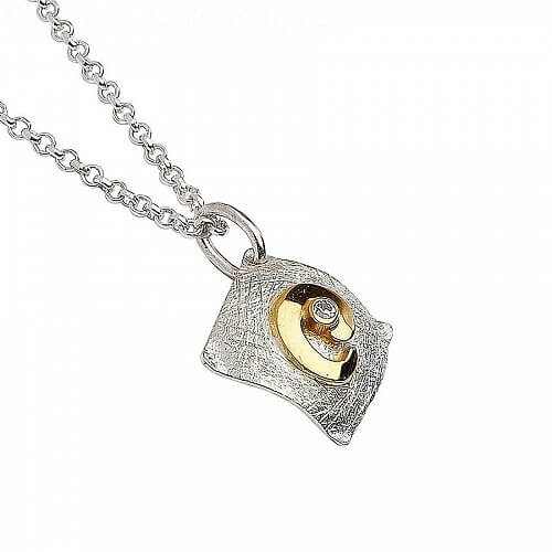 Small Irish Square Pendant