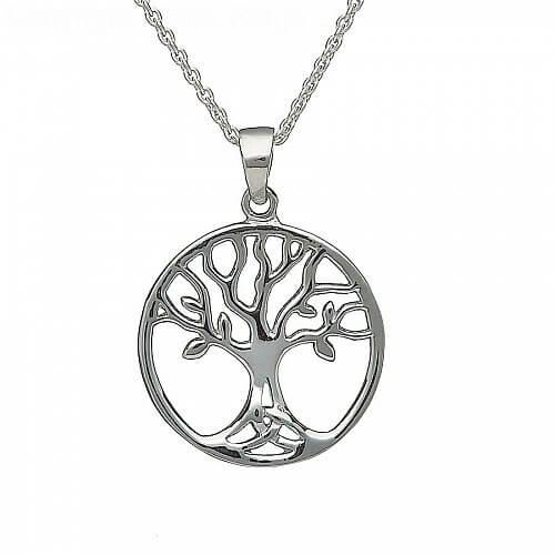 Silberner Baum des Lebens Halskette