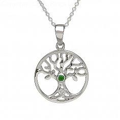 Baum des Lebens Smaragd Halskette