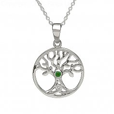 Tree of Life Emerald Necklace