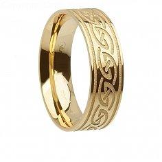 Herren Gold Irische Wellen Ring