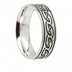 Herren Silber Irish Waves Ring