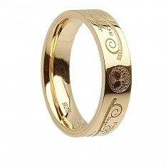 Damen Gold Baum des Lebens Ring