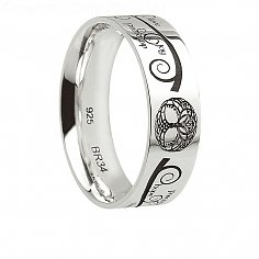 Mens Silver Tree of Life Ring