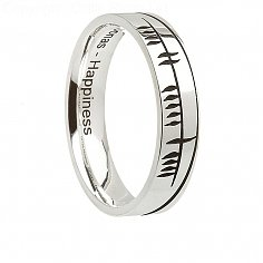 Damen Irish Ogham Silber Ring