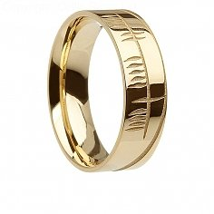 Herren Irish Ogham Gold Ring