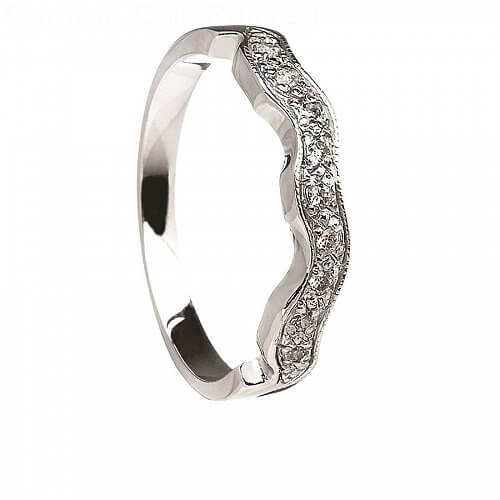 Matching Diamond Band - White Gold