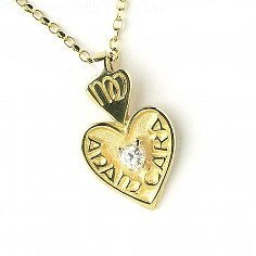 Mo Anam Cara Diamond Pendant - Yellow Gold