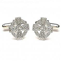 Manschettenknöpfe aus keltischem Kreuz - Silber