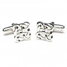 Keltische filigrane Manschettenknöpfe - Silber