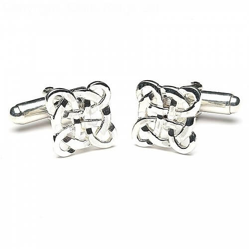 Celtic Filigree Cuff Links - Silver