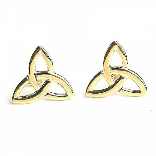 Dearbhla Celtic Earrings - Yellow Gold
