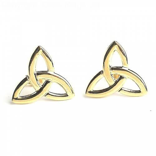 Dearbhla Keltische Ohrringe - Gelbes Gold