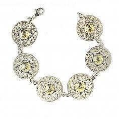 Große Keltische Krieger Armband 18k Bead