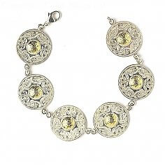 Grand Bracelet Guerrier Celtique Perle 18k