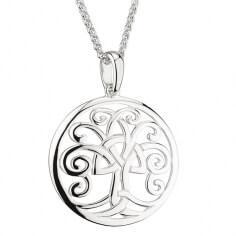 Silberner Baum des Lebens Anhänger