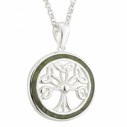 Tree of Life Necklace with Marble