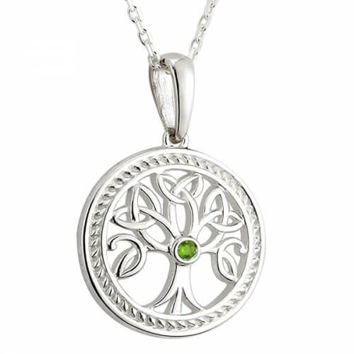 Tree of Life with Emerald CZ